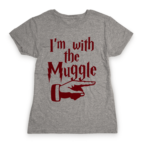I'm With The Muggle Womens T-Shirt
