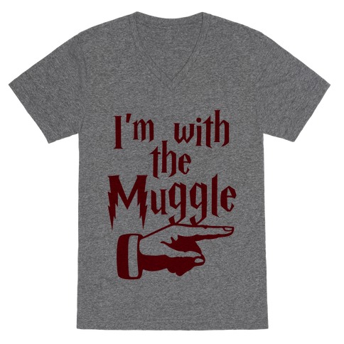I'm With The Muggle V-Neck Tee Shirt