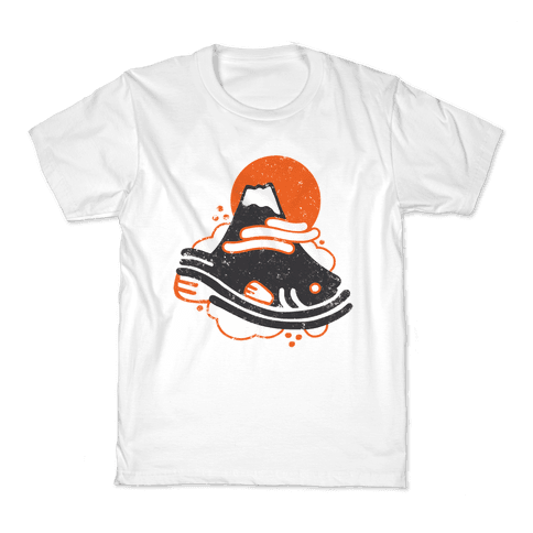 Mount Fuji Fish Kids T-Shirt