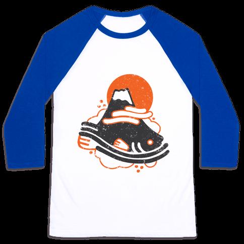 Mount Fuji Fish Baseball Tee