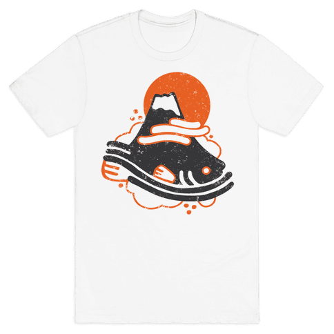 Mount Fuji Fish Mens T-Shirt