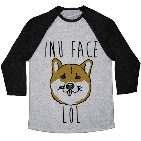 Inu Face Lol Baseball Tee