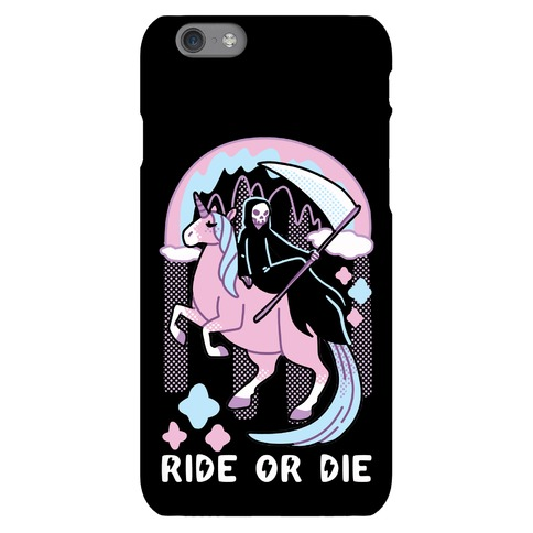 Ride or Die - Grim Reaper and Unicorn Phone Case