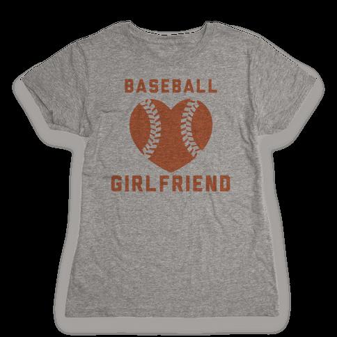 Baseball Girlfriend Womens T-Shirt