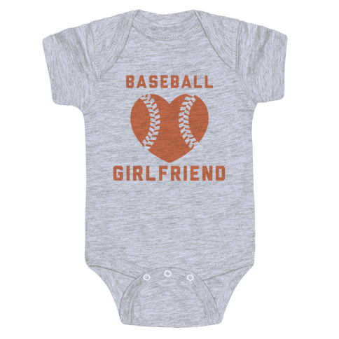 Baseball Girlfriend Baby Onesy