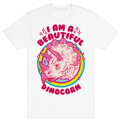 I Am A Beautiful Dinocorn Mens T-Shirt