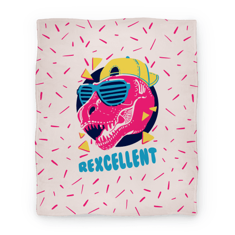 T- Rexcellent 90's Dinosaur Blanket