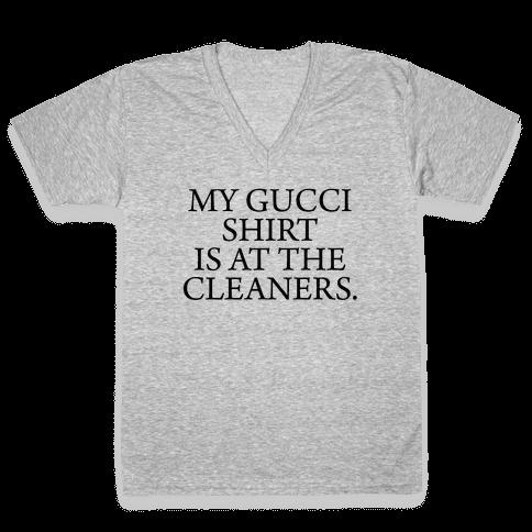 My Gucci Shirt V-Neck Tee Shirt