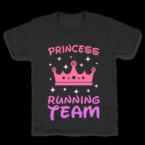 Princess Running Team (sunset) Kids T-Shirt