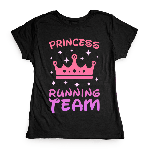 Princess Running Team (sunset) Womens T-Shirt