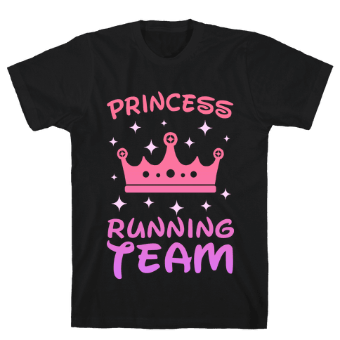 Princess Running Team (sunset) Mens T-Shirt
