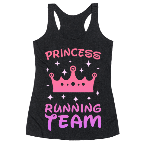 Princess Running Team (sunset) Racerback Tank Top