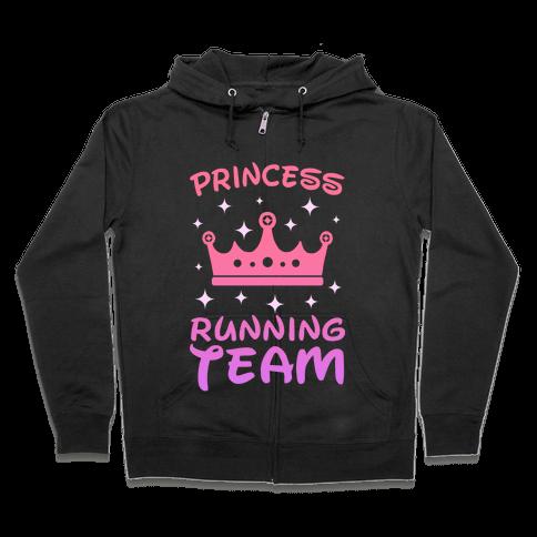 Princess Running Team (sunset) Zip Hoodie