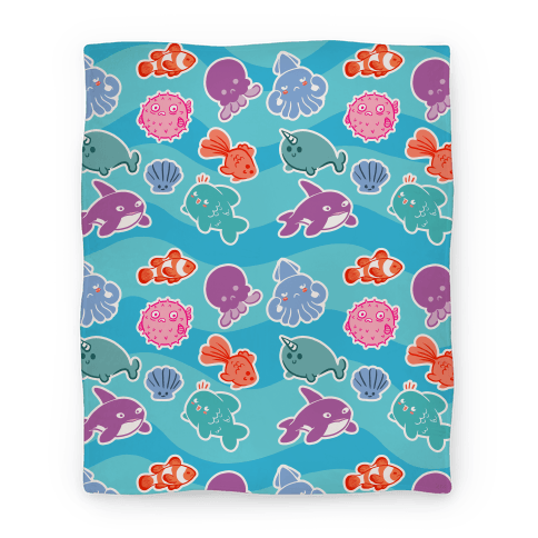 Cute Sea Creatures Blanket