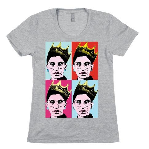 RBG Pop Art Womens T-Shirt