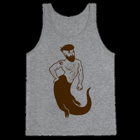 Otter Merman Tank Top