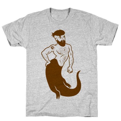 Otter Merman Mens T-Shirt