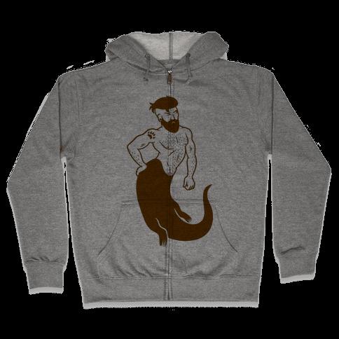 Otter Merman Zip Hoodie