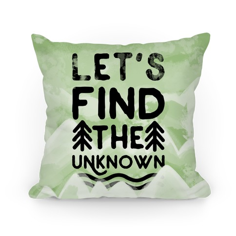 Let's Find the Unknown (Green) Pillow