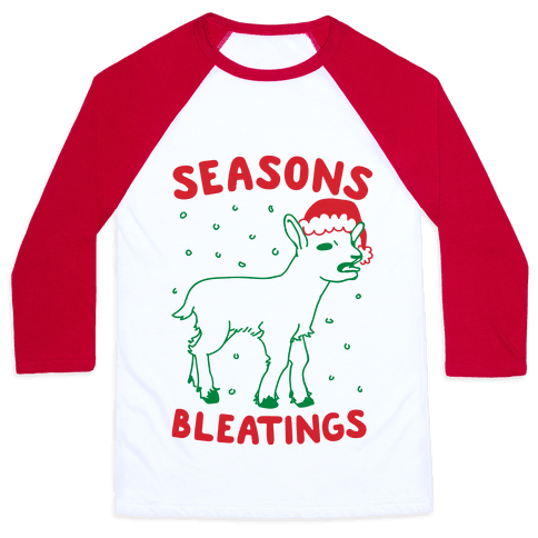 Seasons Bleatings  Baseball Tee