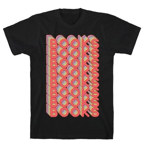 Books Retro Rainbow T-Shirt
