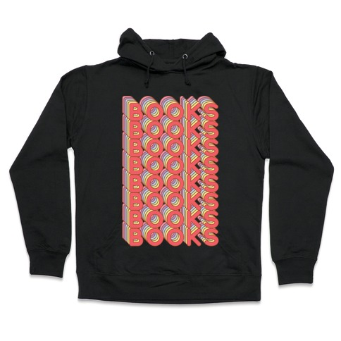 Books Retro Rainbow Hooded Sweatshirt