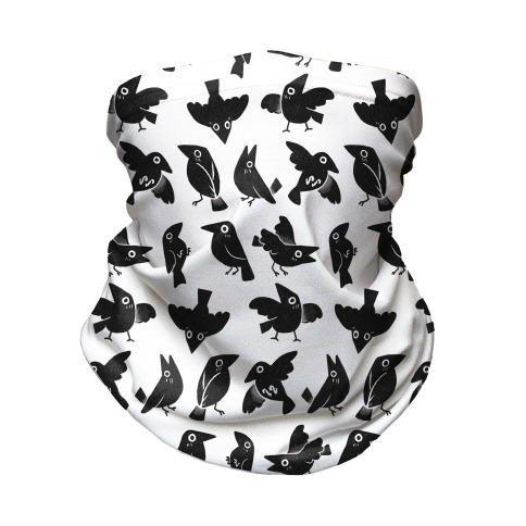 Cute Crow Pattern Neck Gaiter