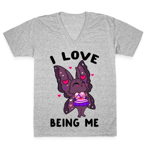 I Love Being Me V-Neck Tee Shirt