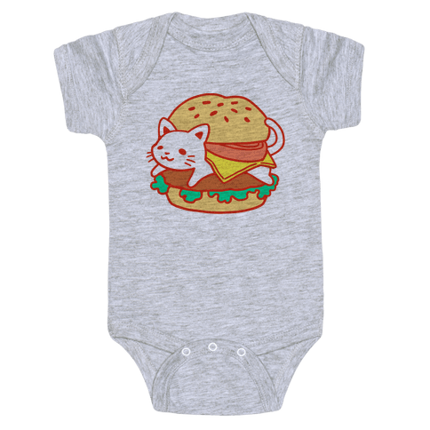 Burger Cat (No Text) Baby Onesy