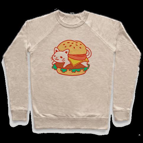 Burger Cat (No Text) Pullover