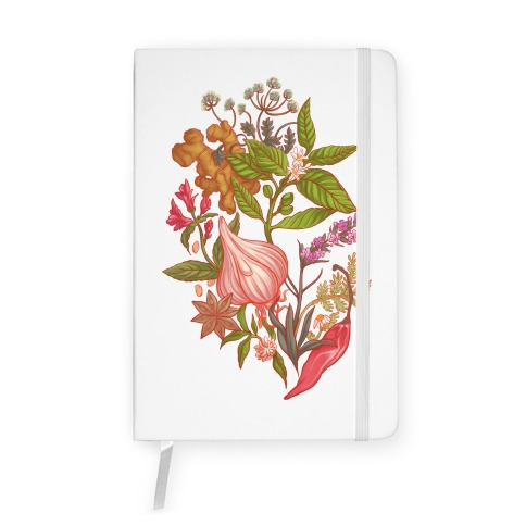 Chef's Botanical Herbs and Spices Notebook