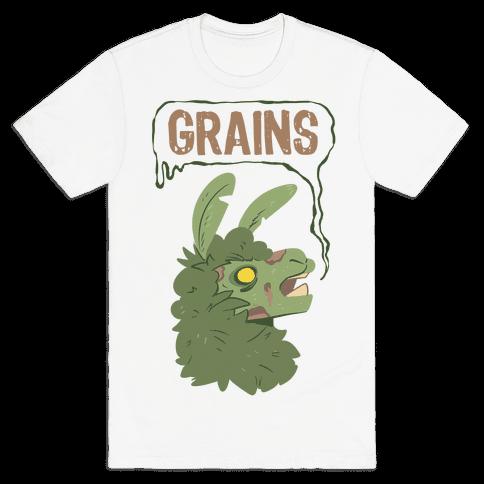 Zombie Llama Mens T-Shirt