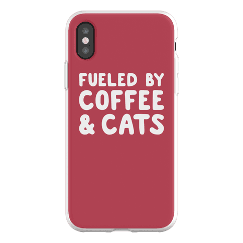 Fueled By Coffee And Cats Phone Flexi-Case
