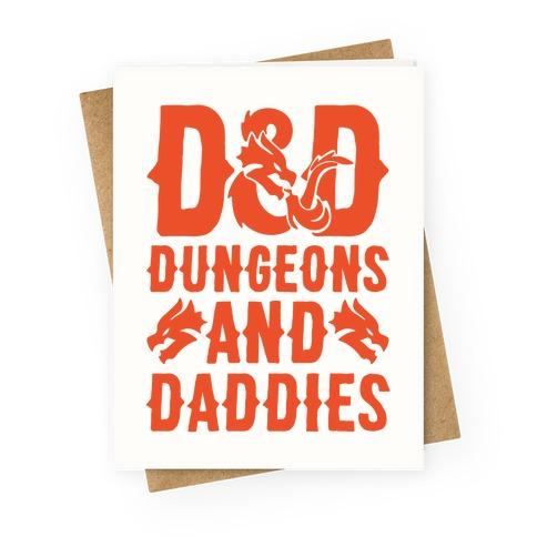 Dungeons and Daddies Parody Greeting Card