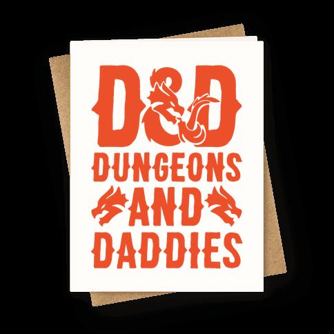 Dungeons and Daddies Parody Greeting Card