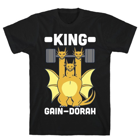 King Gain-dorah - King Ghidorah Mens T-Shirt