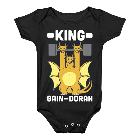 King Gain-dorah - King Ghidorah Baby Onesy
