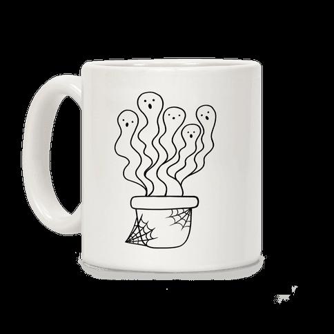 Spooky Ghost Plant Coffee Mug