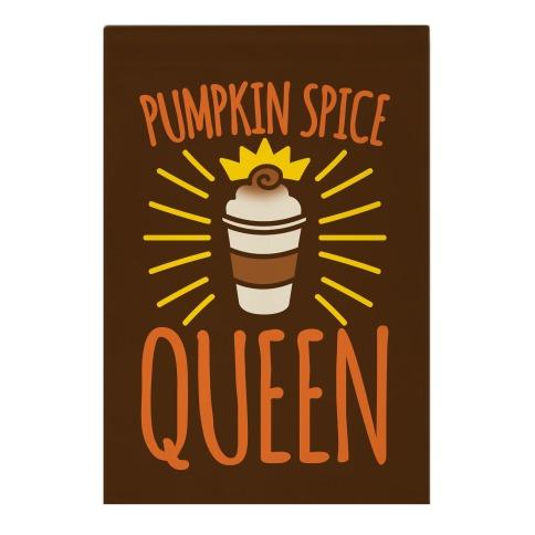 Pumpkin Spice Queen Garden Flag