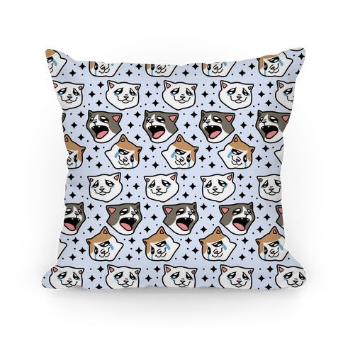 Crying Cats Pillow