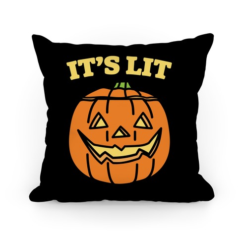 It's Lit Jack O' Lantern Pillow