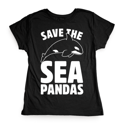 Save The Sea Pandas Womens T-Shirt