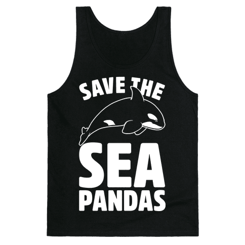 Save The Sea Pandas Tank Top