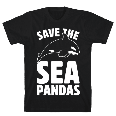 Save The Sea Pandas Mens T-Shirt