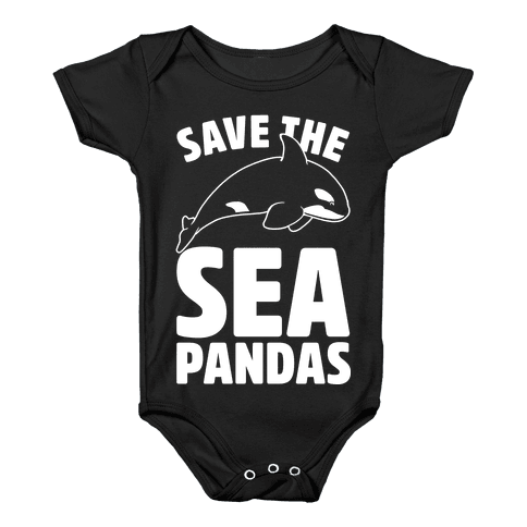Save The Sea Pandas Baby Onesy