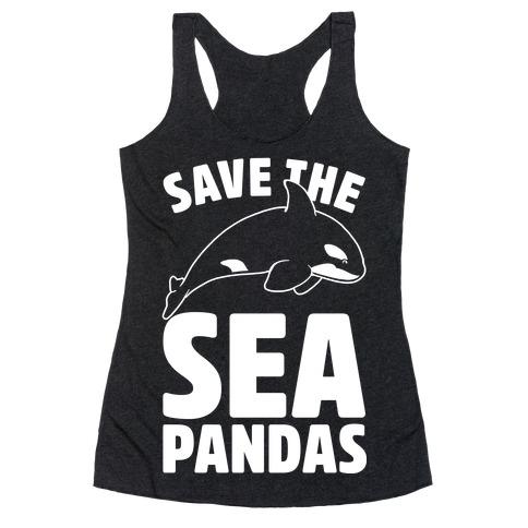 Save The Sea Pandas Racerback Tank Top