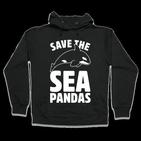 Save The Sea Pandas Hooded Sweatshirt