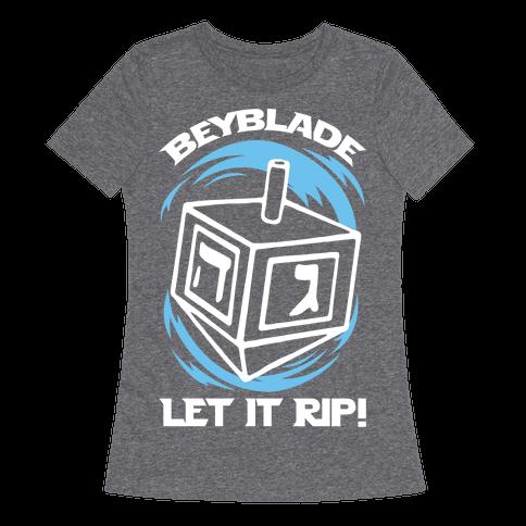 Beyblade Let It Rip Dreidel Womens T-Shirt