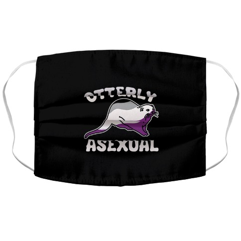 Otterly Asexual Accordion Face Mask
