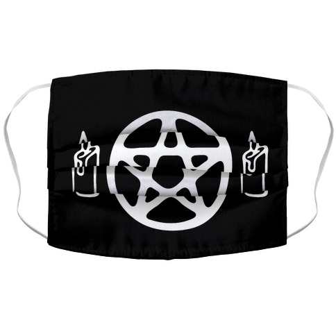 Pentagram and Candle Face Mask Accordion Face Mask